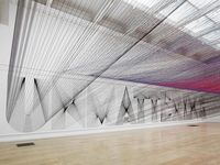 Los Angeles-based artist Pae White used 48 kilometers of thread in her latest installation at Peckham's South London Gallery. The threads criss-cr...
