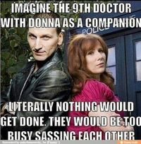 The 9th Doctor & Donna Noble - OMG, they so totally would've been sass-tastic!!