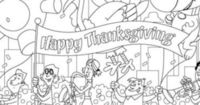 Thanksgiving Parade Coloring Page