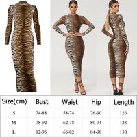 New Fashion Women's Sexy Long Sleeve Stretch Package Hip Bodycon Long Dress Ladies Casual Holiday Party Clubwear