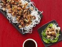 Almost-Famous Chicken Lettuce Wraps Recipe : Food Network Kitchens : Food Network - FoodNetwork.com