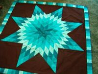 Lone star medallion can be made crib size, twin size, full size, queen size, king size, etc. Request a custom order www.craftyquiltingdesigns.com