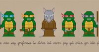 Teenage Mutant Ninja Turtles Characters - Digital PDF Cross Stitch Pattern This is a digital PDF file of a cross stitch pattern. You will