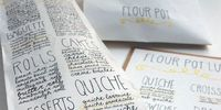 Sarah Nicely designed this cool packaging for the Flourpot bakery. Check it out after the jump.