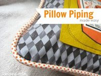 Install Pillow Piping from The Sewing Loft: National Sewing Month 2013