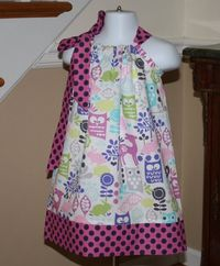 girls toddler Pillowcase dress michael miller by BlakeandBailey, $19.99