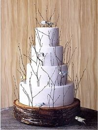 "wedding cake branches. I might like this with some type of edible ""branch"" and with NO birds."
