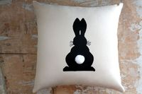 How Cute is this Pillow!!! Easter Pillow, Bunny, Rabbit, Easter Decor, Home Decor,