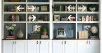 how to decorate bookshelves - maybe this will help end my obsession with my book shelves in the living room! Good tips