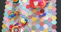 Life Under Quilts - EPP - great idea for toddler quilt using lots of scraps