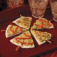 Pita Christmas Tree Appetizers