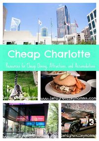 Cheap Charlotte Guide to Resources to find Free and Cheap things to do in Charlotte
