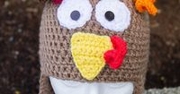Turkey Hat By Ronda Goetz - Purchased Crochet Pattern - Adult And Children Sizes - (ravelry)