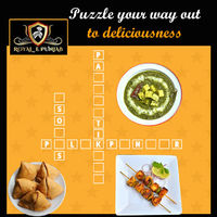 Puzzle your way out to deliciousness.  Menu + Order: http://www.royalepunjab.net.au/ �œ… Opening: 05:00PM onwards