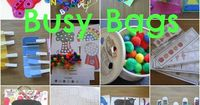 These busy bag ideas could be good for reinforcement activities throughout a session