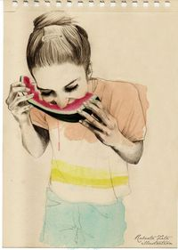 Sketchbook's Girls by Roberta Zeta, via Behance