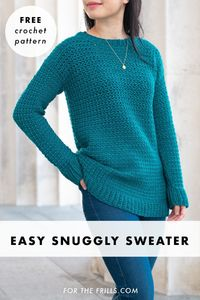 SIMPLE TEXTURED SWEATER - FREE CROCHET PATTERN
