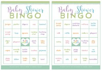 Baby shower Bingo Free printable baby shower games