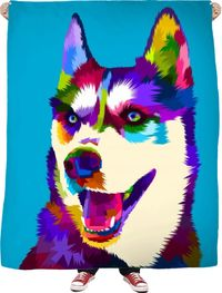 Siberian Husky Fleece Blanket $65.00