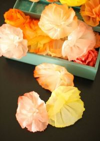 "by Jenny Batt Today I want to show you how to make the world's cheapest party decoration �€"" paper towel flowers! I was decorating cookies when I noticed how nice"