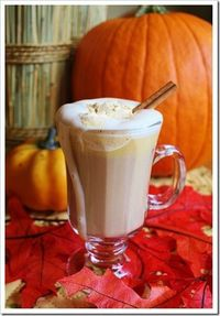 Make your own pumpkin lattes and top them off with this delicious pumpkin whipped cream. A perfect fall beverage!