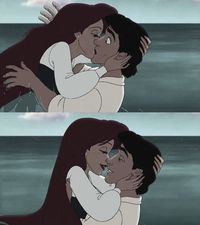 Ariel and Prince Eric - a classic Disney romance <3