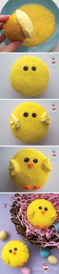 A 1 Nice Blog: Easter Chick Cupcakes