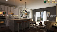 Modern Living room concept of Interior Design Firms by architectural design studio Austin, Texas
