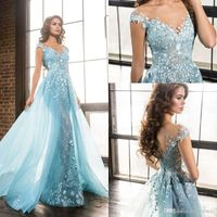 Light Sky Blue Zuhair Murad Evening Dresses Sheer Neck Short Sleeves Appliques Lace Tulle Over Skirt Celebrity Dresses Formal Prom Dresses Myers Evening Dresses Plus Size Evening Gowns Dresses From Factory Sale, $204.35| Dhgate.Com