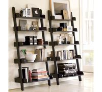 These wall shelves are perfect for apartments because they keep the space open and light.