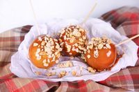 the chew | Recipe | Carla Hall's Crispy Peanut Butter Caramel Apples #�€ŽDisneySide�€� #�€ŽTheChew�€�