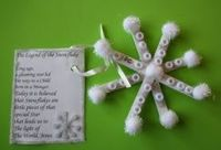 Simple Popsicle Stick Snowflake & Poem