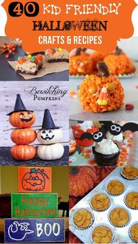 Halloween Crafts and Recipes for Kids #Halloween #recipes #Crafts