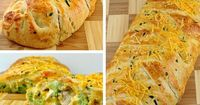 Chicken, broccoli, cheese and warm crescent rolls.Looks amazing.. can't wait to try