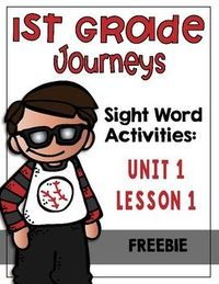 First grade sight word activities Journeys