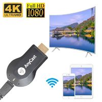 Newest 1080P Anycast m4plus Chromecast 2 mirroring multiple TV stick Adapter Mini Android Chrome Cast HDMI WiFi Dongle Any cast $21.99