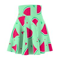Cartoon Watermelon Skater Skirt $46.88 https://krookedpanda.com
