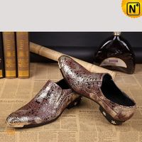 Mens Glitter Leather Dress Loafers Shoes CW751548