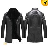 Patented Leather Coats   CWMALLS® Men Shearling Leather Coat CW808016[Father's Day Gifts, Custom Made]