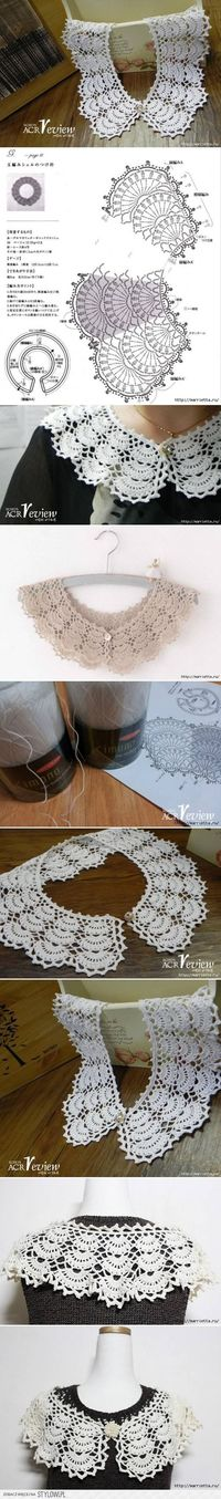 DIY Open Work Crochet Collar DIY Projects | UsefulDIY.c�€� na Stylowi.pl