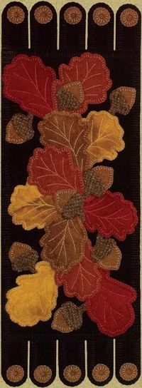 """I have a """"thing"""" for Fall table runners - and this one is gorgeous!"""