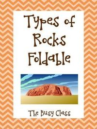 Types of Rocks Foldable - a great foldable for the 3 main types of rock: igneous, sedimentary, and metamorphic.