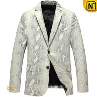Haute Couture | Custom Made Men Lambskin Leather Blazer CW816125 | CWMALLS.COM