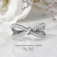Hera Diamond Ring, Infinity Knot Ring, 0.4 CT Diamond Ring, Love Knot Ring, Gold Rings for Women, Infinity Ring, Unique Ring $1068.00