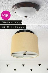 Upgrade a Ceiling Light with a Drum Shade