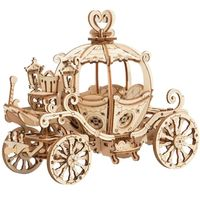 3D Wooden Puzzle,Pumpkin Cart Model,Educational toy,Assembly Kit,Home,Hobby $28.90