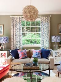 Sunroom, southern style, jamie meares, glass oval coffee table