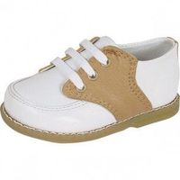 Designer's Touch Conner White & Tan Oxford 5176DTB main image Baby Deer/Trimfoot