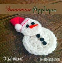 Welcome the chilly weather with this insanely cute Easy Crochet Snowman Applique. This free crochet pattern is quick and easy to work up and can be used for so