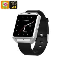 H5 Android Smart Watch - 4G, 1.54 Inch Touch Screen, Pedometer, Heartrate Sensor, Android 6.0, 5MP Camera 600 Mah(silver) £77.72